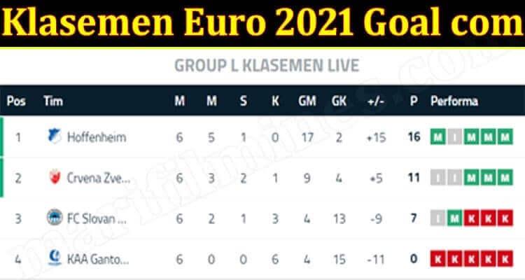 Klasemen Euro 2021 Goal com (June) Know The Score Now!