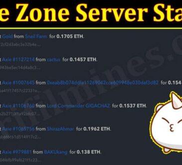 Axie Zone Server Status 2021.