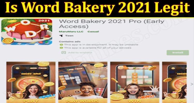 Is Word Bakery 2021 Legit 2021