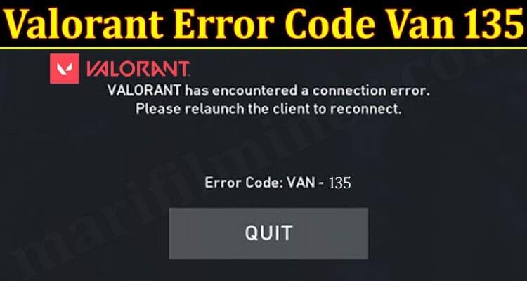 Valorant Error Code Van 135