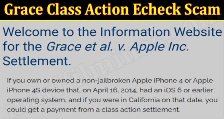 latest news Grace Class Action Echeck