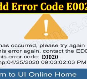 Latest News Edd-Error-Code-E0020