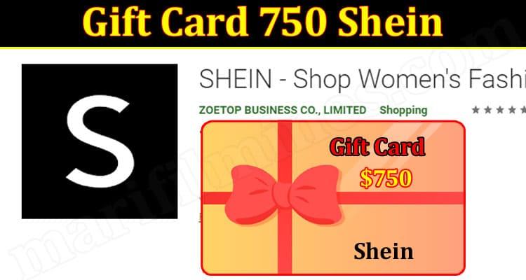 Latest News Gift Card 750 Shein