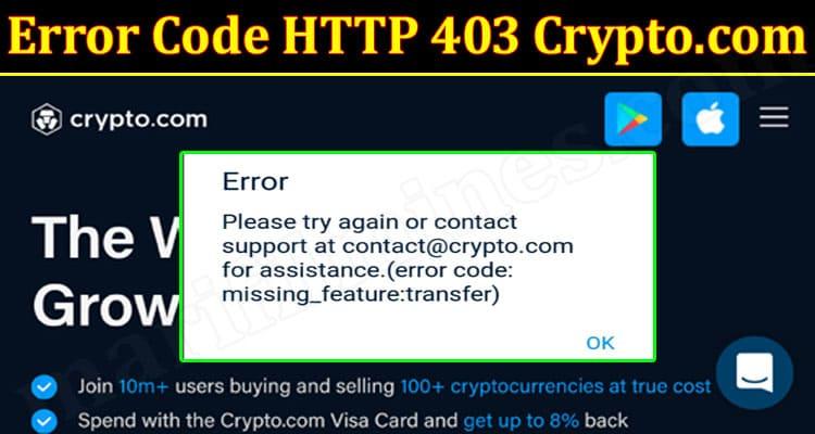 LAtest News Error Code HTTP 403 Crypto
