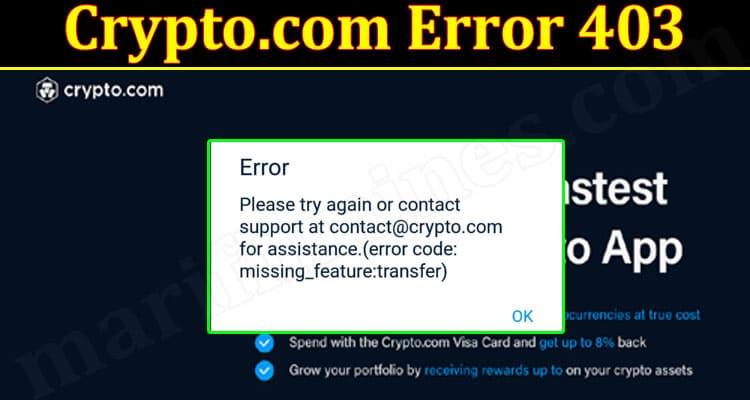 Latest News Crypto.com Error 403