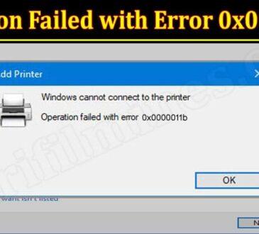 Latest News Operation Failed With Error 0x0000011b