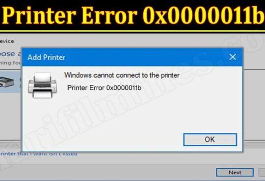 Latest News Printer Error 0x0000011b