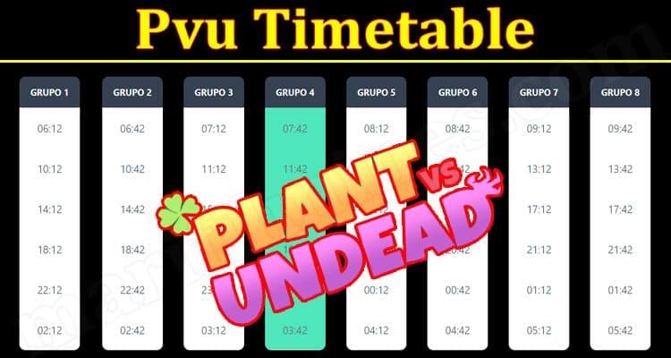 Latest News Pvu Timetable