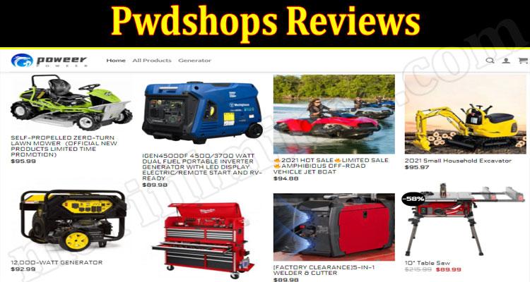 Pwdshops Online website Reviews