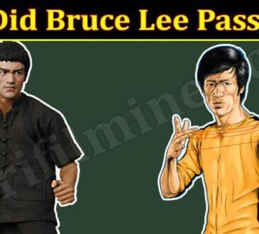 Latest News Bruce Lee Pass Away