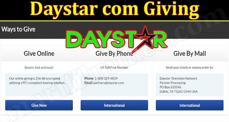 Latest News Daystar Com Giving